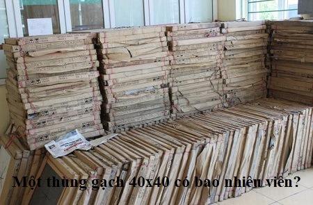 1 thùng gạch 40x40 có bao nhiêu viên