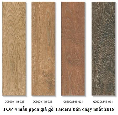 Gạch lát nền giả gỗ Taicera sở hữu màu sắc ấn tượng