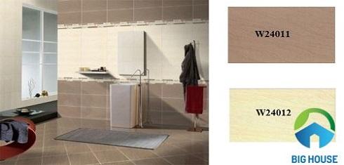 Kết hợp giữa 2 gam màu gạch ốp lát nhà vệ sinh Taicera đem lại sự khác biệt