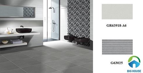 Không gian rộng lớn giúp bạn thoải mái lựa chọn mẫu gạch ốp lát nhà vệ sinh Taicera