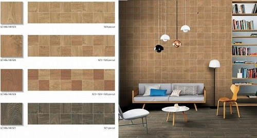 Cách chọn gạch ốp tường phòng khách Taicera Đẹp kèm báo giá 2018