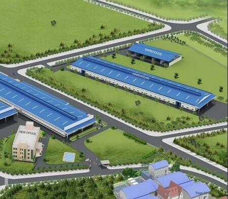 Mô hình nhà máy gạch Taicera