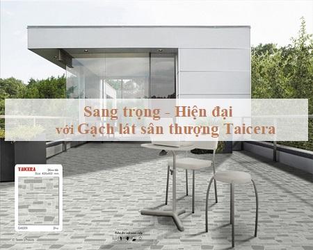 Cách chọn gạch lát sân thượng Taicera cho từng không gian cụ thể