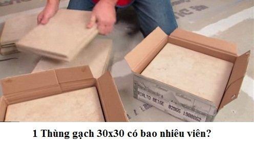 1 thùng gạch 30×30 có bao nhiêu viên? Chuyên gia xây dựng giải đáp