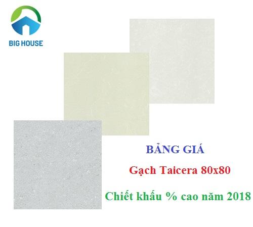 Bảng giá gạch Taicera 80×80 UPDATE mới nhất 2018 tại Big House