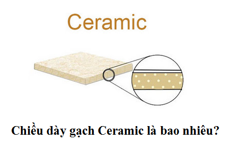 Chiều dày gạch lát nền, ốp tường: Ceramic, Granite… Đạt chuẩn
