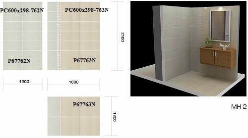 mẫu gạch ốp tường vệ sinh Taicera chất liệu bóng kiếng