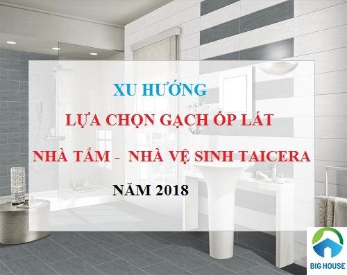 Mẹo chọn gạch lát nền nhà vệ sinh Taicera An toàn và Bảng giá 2018
