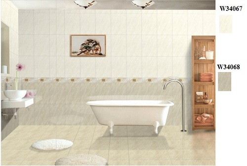 Cách phối màu gạch ốp tường vệ sinh Taicera