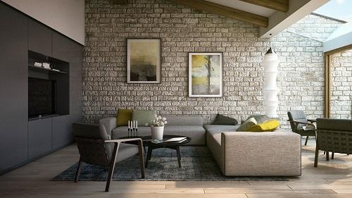 Các mẫu gạch ốp tường phòng khách đem lại sự khác biệt