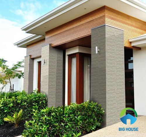 Mẫu gạch ốp cột vuông hiên nhà