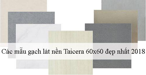 Điểm danh các mẫu gạch lát nền Taicera 60×60 Đẹp nhất 2018