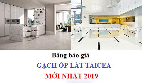 Bảng báo giá gạch taicera 2019