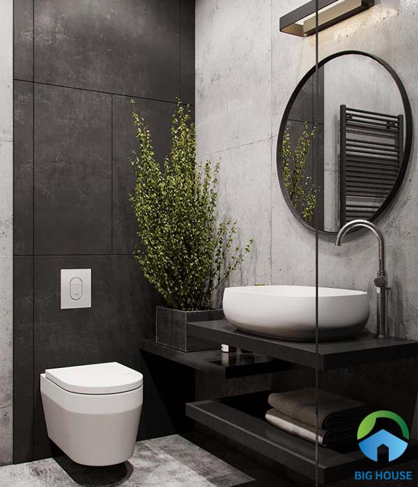 Bộ đôi gạch ốp tường đen trắng bề mặt nhám là một sự lựa chọn tuyệt vời