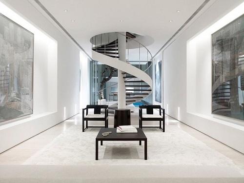 Mẫu cầu thang nhà ống lên tầng 2 đẹp mắt