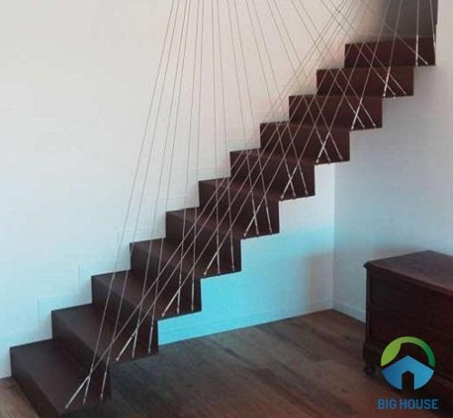 cầu thang nhỏ gọn đơn giản