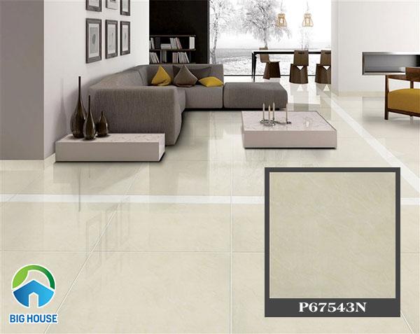 gạch bóng kiếng taicera màu đơn sắc mang đến sự sang trọng cho phòng khách