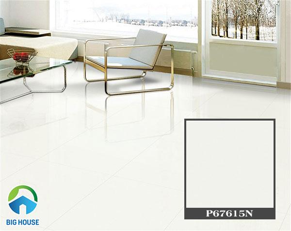 Sử dụng gạch màu trắng sáng mang đến sự sang trọng cho không gian