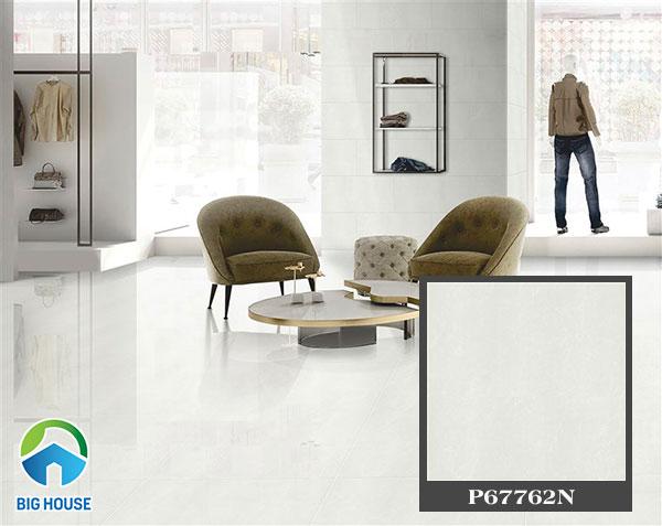 gạch bóng kính taicera màu sáng mang đến sự sang trọng cho showroom quần áo