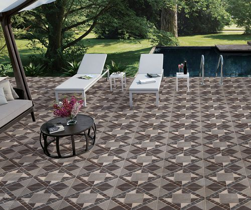 Gạch chống trơn 600x600 lát sân bể bơi đảm bảo an toàn