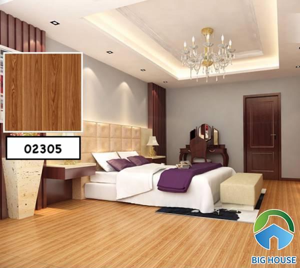Phòng ngủ ấm áp và sang trọng với tông màu nâu vàng