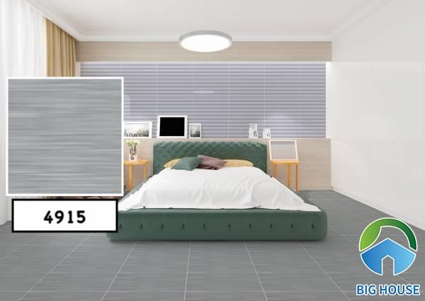 Tông màu ghi xám kết hợp cùng đồ nội thất đơn giản tạo nên sự độc đáo