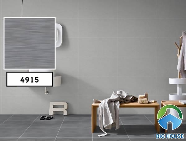 Tông màu ghi xám kết hợp màu tường cùng tông mang đến sự ấn tượng