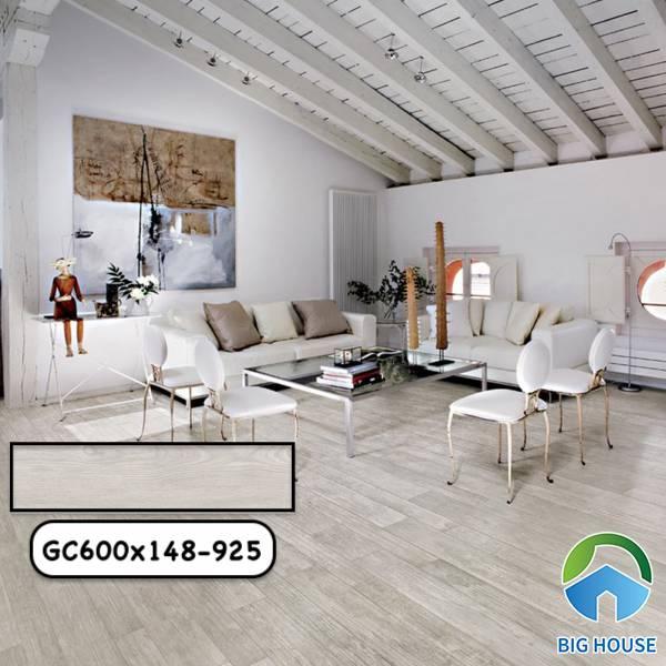 Gạch giả gỗ màu trắng Taicera GC400x148-925