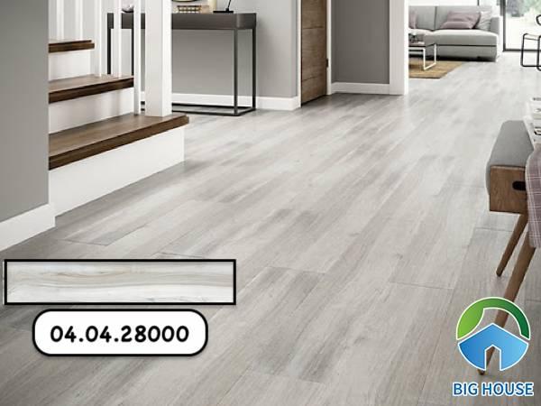 Gạch giả gỗ màu trắng Hoàn Mỹ 04.04.28000