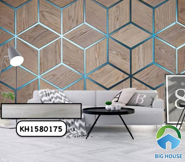 Gạch giả gỗ màu trắng CMC KH1580175