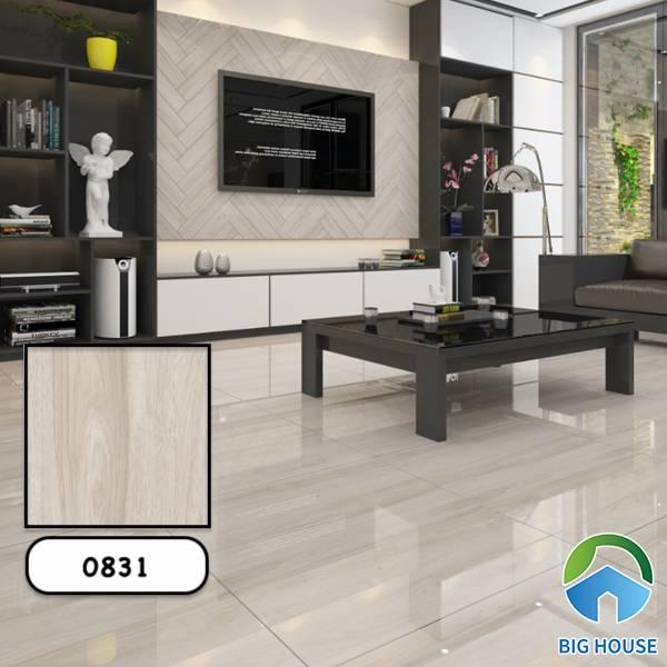 Gạch giả gỗ màu trắng Vitto 0493
