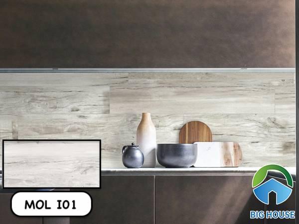 Gạch giả gỗ màu trắng Viglacera MOL I01