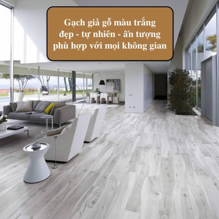 TOP mẫu gạch giả gỗ màu trắng nới rộng không gian Hiệu quả