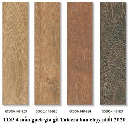 4 mẫu gạch lát nền vân gỗ Taicera bán chạy nhất