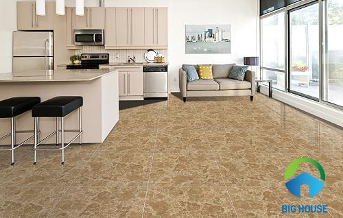 gạch granite 500x500 lát phòng khách vân đá sang trọng