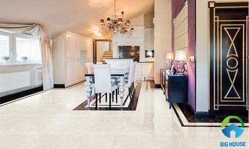 Gạch granite vân đá phù hợp nhiều không gian