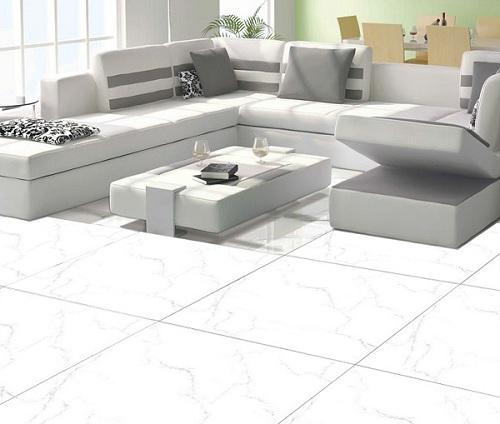 Mẫu gạch lát nền granite màu trắng mang đến sự sang trọng