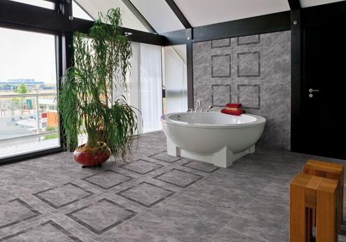 Mẫu gạch lát nền 800x800 kích thước lớn vẫn phù hợp với nhà tắm lớn