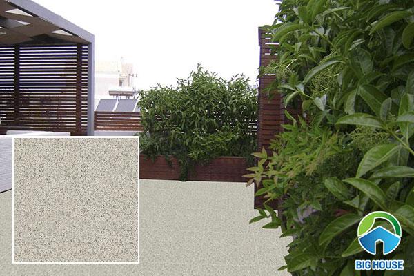 Gạch men khô kích thước nhỏ là lựa chọn tối ưu cho sân thượng