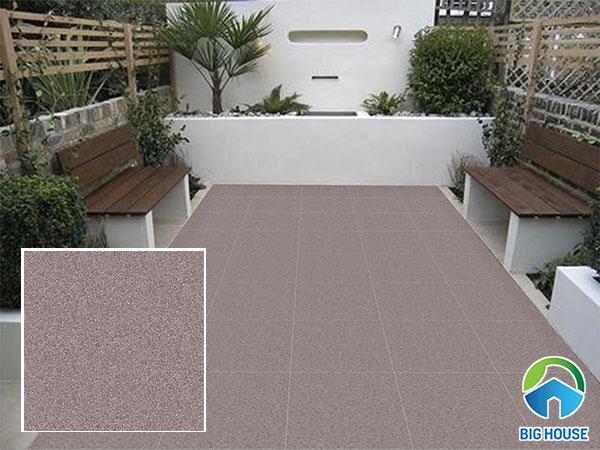 Mẫu gạch granite lát sân thượng họa tiết muối tiêu độc đáo