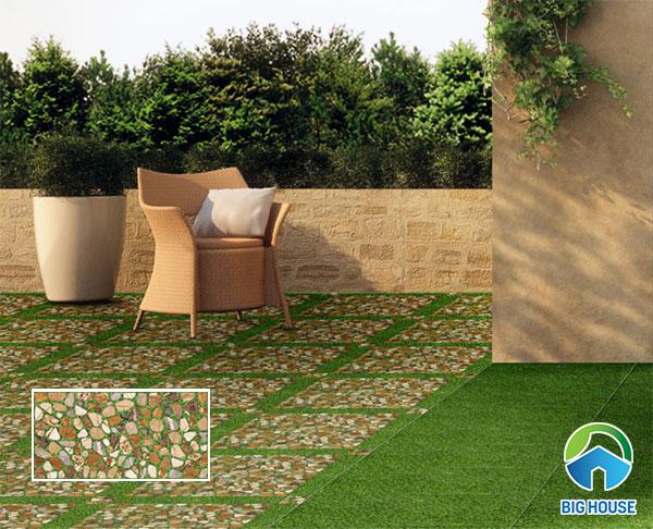 gạch granite lát sân vườn 6