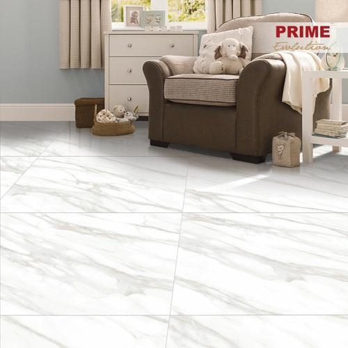 Mẫu gạch lát nền 800x800 granite với gam màu trắng nổi bật