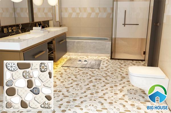 Mẫu gạch lát nền nhà vệ sinh có bề mặt định hình