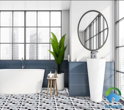30 Mẫu Gạch lát nền nhà tắm, nhà vệ sinh Chống trơn, Giá rẻ 2021