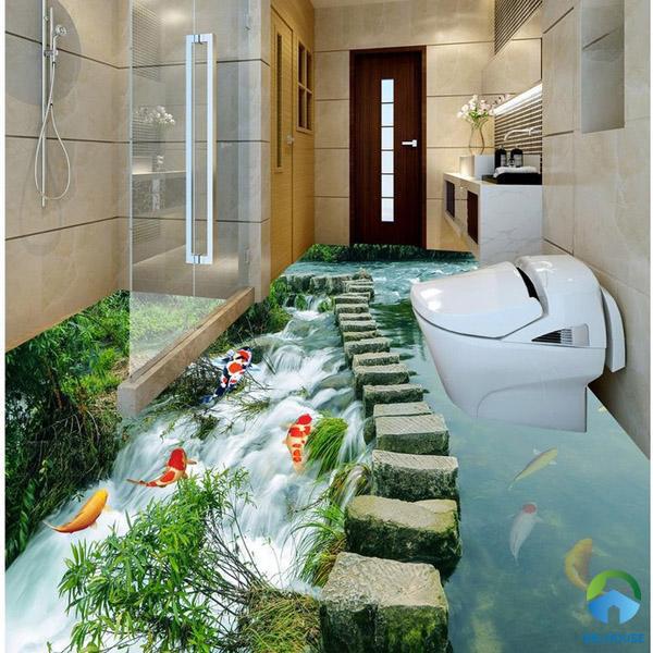 Sàn nhà tắm 3D ý tưởng từ thiên nhiên đẹp hút hồn