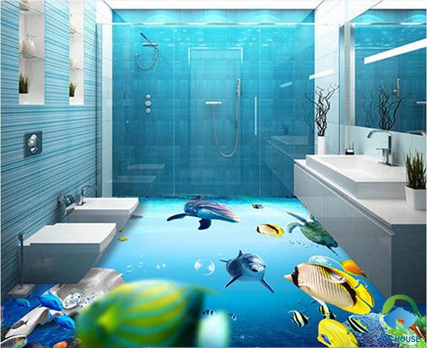 Đại dương bao la dưới sàn nhà tắm