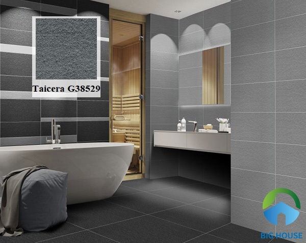 Không gian phòng tắm hiện đại với mẫu gạch Taicera G38529 30x30