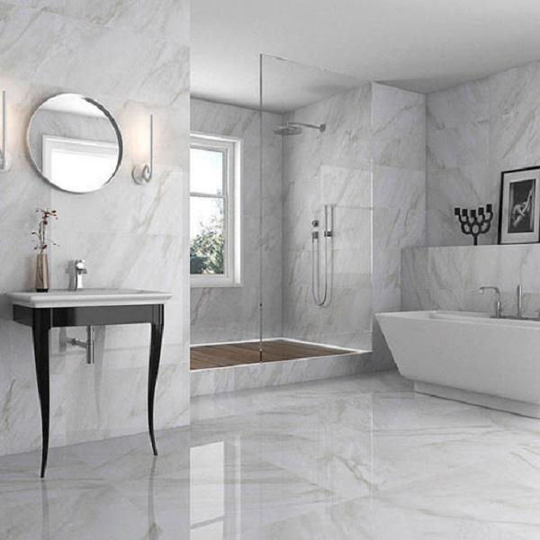 Gạch giá đá được dùng để trang trí trong khu vực nhà vệ sinh, nhà tắm