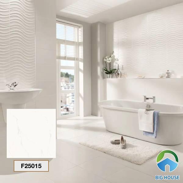 Gạch lát nền nhà tắm màu trắng Taicera F25015