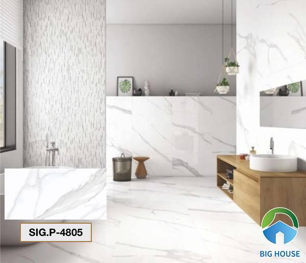 Gạch lát nền nhà tắm màu trắng Viglacera SIG.P-4805